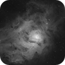 M 8 The Lagoon Nebula in Ha,                                Greg Ray