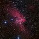 Sharpless 142 - The Wizard Nebula in HaRGB,                                Kevin Dixon