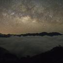Milk way & sea of cloud  @TAIWAN,                                Hata Sung