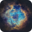 Rosette Nebula in SHO without Stars,                                AstroForum