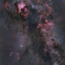 Cygnus/Sadr 6 Frame Mosaic,                                Lancelot365