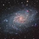 M33 Triangulum Galaxy in Ha-LRGB,                                Joe Alexander