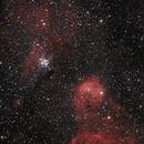 NGC3293 & NGC3324 (Gabriela Mistral Nebula) in Carina,                                Marcelo Alves