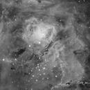 M8 Lagoon Nebula in SII,                                Carl Weber