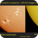 Sunspot AR1745 two views,                                thakursam
