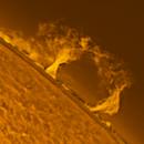 Sun Prom 2020-11-18 13:24 ut H-Alpha,                                Sepp Käser