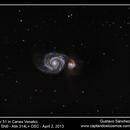 Messier 51 in Canes Venatici,                                Gustavo Sánchez