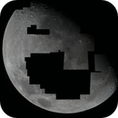 1st mosaic of moon with C11,                                Le Mouellic Guill...