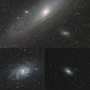 Galaxies - relative apparent sizes,                                Julien Lana