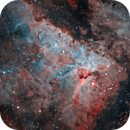 Eta Carina Nebula in Bi-colour,                                Kevin Parker