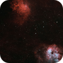 IC405 and IC410 in HαOO-RGB,                                Uwe Deutermann