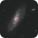 M 106 with Ha jets,                                pete_xl