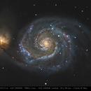 M 51- Gros plan sur la Galaxie du tourbillon,                                Jeffbax Velocicaptor