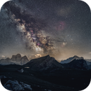 Milky way over the Pelmo and Civetta,                                Davide De Col