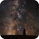 My sister in front of the Milky Way,                                Lyaphine