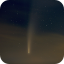 Comet C/2020 F3 Neowise - shining through thin clouds,                                AC1000