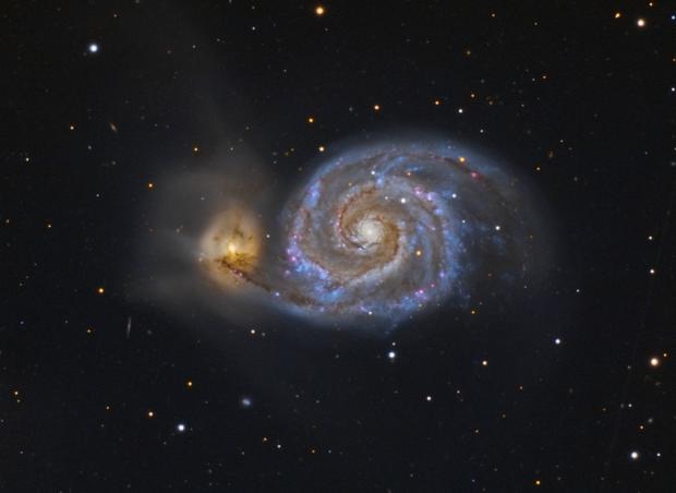 M51 Whirlpool Galaxy  by cicciobocc,                                Alberto Pisabarro