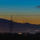 Waxing crescent moon - 1.4% illuminated,                                Arno Rottal