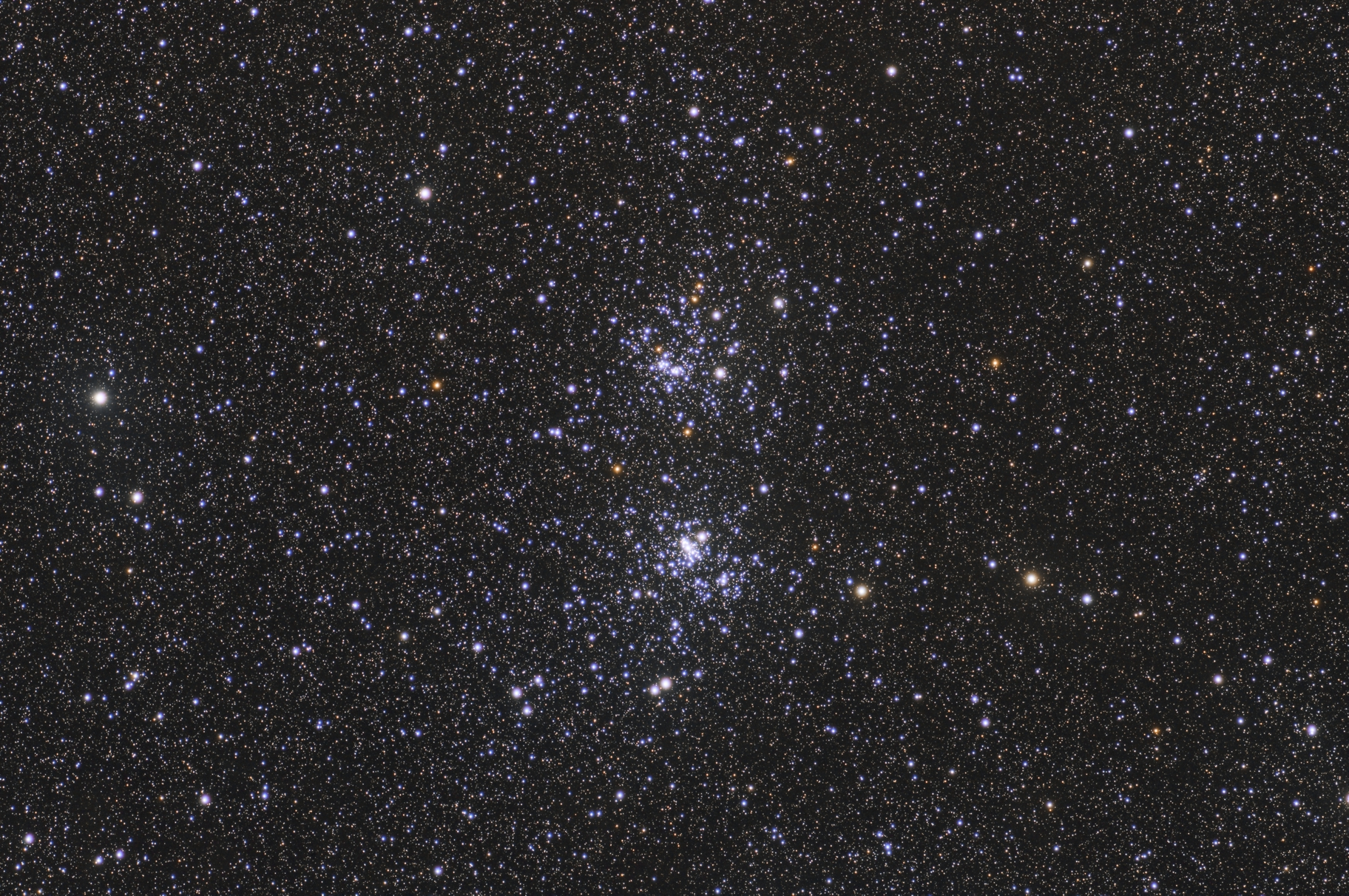 Double cluster of Perseus NGC884 & NGC869,                                Vincent F