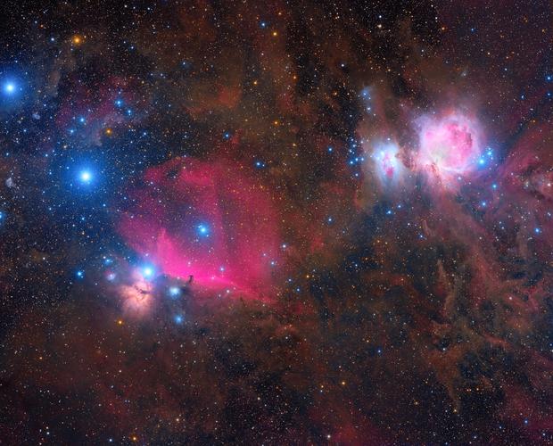 A tour around IC434 and M42,                                Roberto Colombari