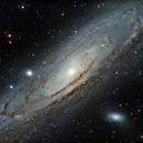 M31 LRGB+Ha,                                Andrew Barton