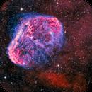 NGC6888 narrowband bi-colour,                                Rick Stevenson