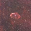 Crescent Nebula (NGC6888)  in Cygnus HaRGB,                                Michele Vonci