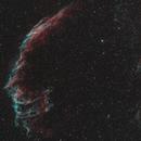Eastern Veil Nebula - Hydrogen Alpha and Oxygen III Mapped Color Image,                                Dean Jacobsen