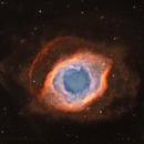 Helix Nebula - Narrowband bi-colour + RGB stars,                                Rick Stevenson