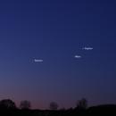 Jupiter, Mars + Saturn at dawn,                                AC1000