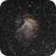 Sh2-112, SHO (Hubble Palette) with RGB stars, 26-27 Jun 2018 and 22-24 June 2020,                                David Dearden
