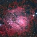 RGB lagoon at 1100mm focal length,                                Andrew Lockwood