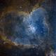 Heart Nebula (IC 1805) - Bicolor NB,                                Alessio Beltrame