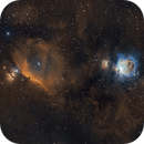 Horsehead and Orion Nebulae in SHO,                                Tommy Lease