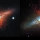 M82. My 102mm refractor vs Hubble Space Telescope,                                kskostik