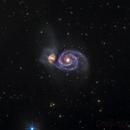 M51 in LRGBHa,                                MicRaWi