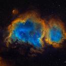 Soul Nebula (SHO) + RGB stars,                                Jian Yuan Peng