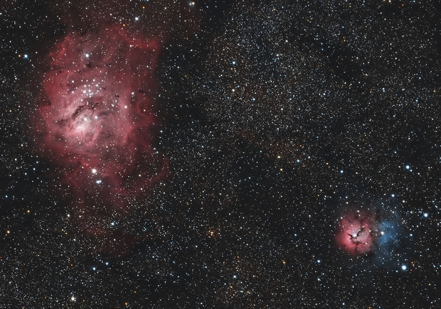 M8 and M20 - Lagoon and Trifid,                                Craig Rodgers
