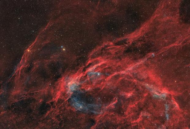 Northwestern Cygnus - 8 panel mosaic (HaOIIIRGB),                                Nico Carver