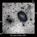 The faint jets of NGC 1097,                                Rick Stevenson