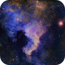 NGC 7000 in the Hubble palette,                                Mostafa Metwally