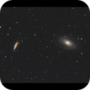 M81 and M82 in cinemascope,                                milesinthesky