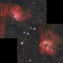 mosaique Ic405-Ic410,                                astromat89