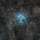 Pleiades Cluster (Messier 45) Wide,                                Miles Zhou