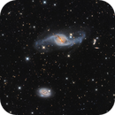 NGC 3718 and NGC 3729 - interacting galaxies,                                Steve Cooper