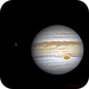 Jupiter and its moons Io and Europa,                                Fernando Oliveira...