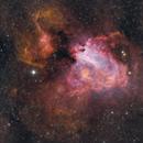 The Omega Nebula in narrowband,                                Tim Looi