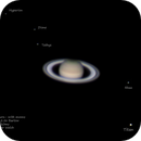 Saturn- with moons,                                Tyler Jackson Welch