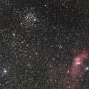 Bubble nebula + M52,                                cguvn