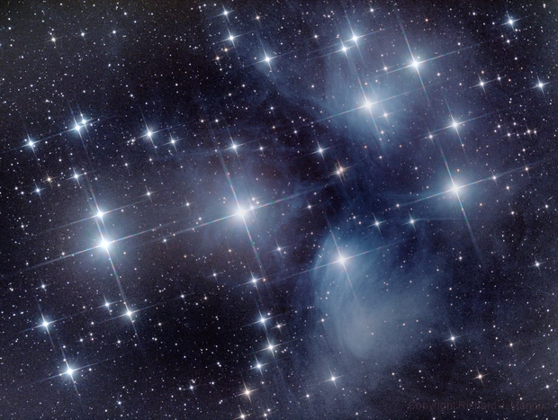 M45 Pleiades/7 Sisters/Subaru cluster,                                Rich